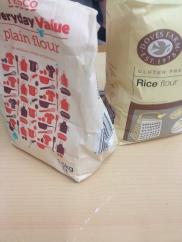 flour - plain and rice