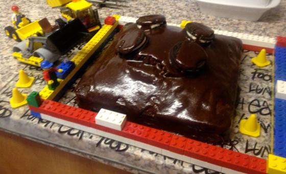 Lego Cake by brickmum